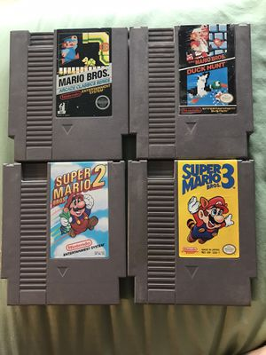 Original Nintendo Classic Games! Super Mario Bros 1, 2, 3 & Mario Bros Arcade Classics Series! for Sale in Clackamas, OR