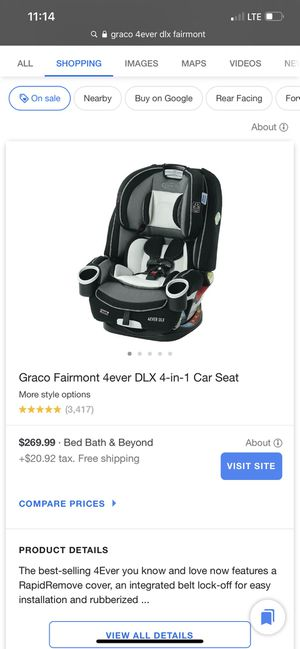 Grace 4ever DLX 4-in-1 car seat for Sale in Anaheim, CA