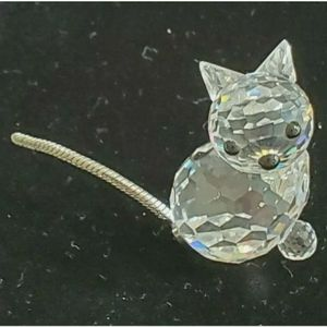 Swarovski Crystal Miniature Cat Kitten Figurine Metal Coil Tail 7659 NR 031 MIB for Sale in Manchester Township, NJ