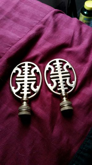 Asian brass finials for lamps for Sale in Manassas, VA
