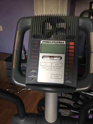 Proform Elliptical with i-fit folds for storage for Sale in Port Neches, TX