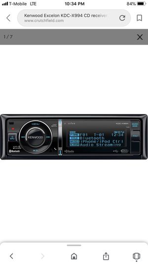 Kenwood Excelon KDC-X994 Bluetooth CD receiver for Sale in Lynnwood, WA
