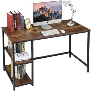 Computer Desk, 47 Inch Industrial Writing Desk, Office Study Desk, with 2 Storage Shelves on Left or Right, Gaming Desk Office Desk for Home Office, S for Sale in Colonial Heights, VA