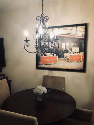 Beautiful antique bronze chandelier for Sale in BOWLING GREEN, NY