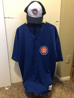Chicago Cubs MLB Vintage Jersey and Rare Hat Size XXL for Sale in Columbus, OH