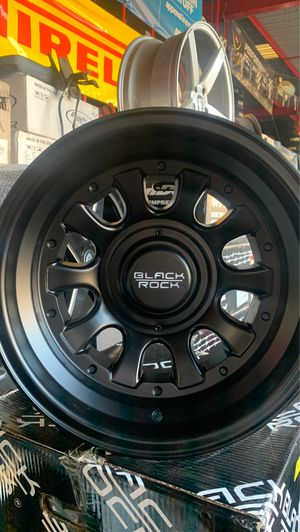 BLACK ROCK WHEELS THERE 15/10 for Sale in Los Angeles, CA