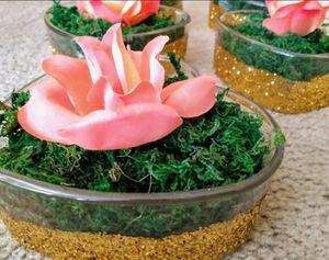 glass gold glitter centerpieces and hard /party/birthday/ centros de Mesa / Oro brillo/ cumpleaños/ fiesta for Sale in Tolleson, AZ