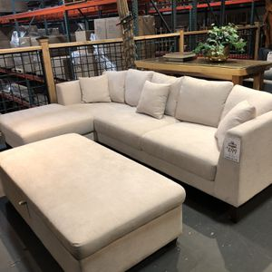 New & In Stock!beige Sofa & Chaise $699! Available In Dark Grey, Light Grey, & Beige! Add Storage Ottoman For $199! for Sale in Vancouver, WA