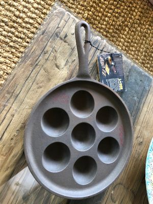 Cast Iron Aebleskiver Pan by Lodge for Sale in Pasadena, CA