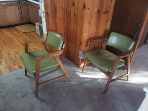 3 Mid-Century Gunlocke Wooden Arm Chairs for Sale in Northwest Plaza, MO