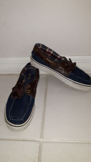 Vans boat shoes, men's size 7.5 women's size 9, barely worn excellent condition for Sale in Plantation, FL
