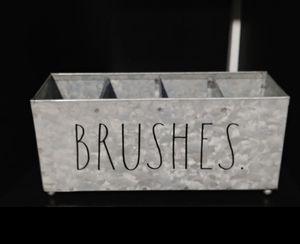 Rae Dunn BRUSHES holder / farmhouse decor home makeup for Sale in Carson, CA