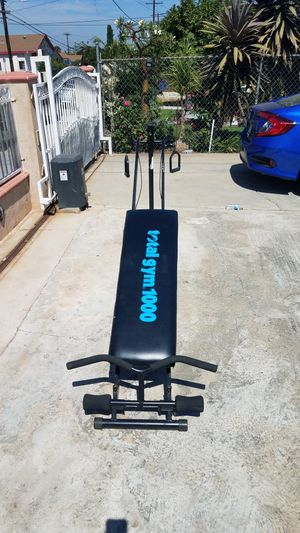 Total gym 1000 full home workout equipment for Sale in Montebello, CA