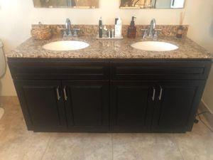 Dual sink vanity with granite countertop & sinks for Sale in Fort Lauderdale, FL