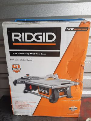 7 in. Table Top Wet Tile Saw for Sale in Houston, TX