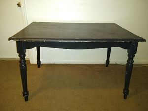 Dining Table Black Wooden Kitchen Dinette Table for Sale in Lockhart, FL