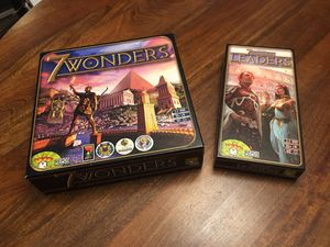 7 Wonders + Leaders Expansion Board Game for Sale in Arlington, TX