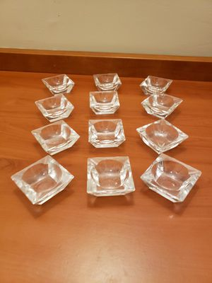 12 brand new clear glass tealight candle holders for Sale in Los Angeles, CA