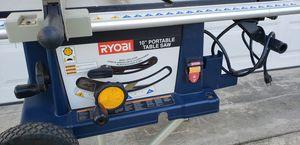 """Ryobi 10"""" Portable Table Saw for Sale in Garden Grove, CA"""