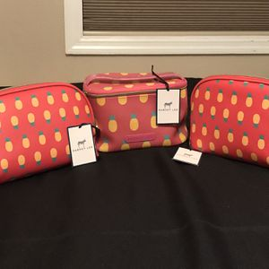 Dabney Lee Pineapple Cosmetic Travel 3 Piece Set for Sale in Winter Haven, FL