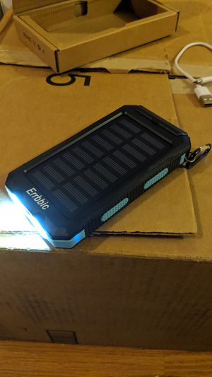 Solar Power Bank Portable Charger 20000mah for Sale in Santa Ana, CA