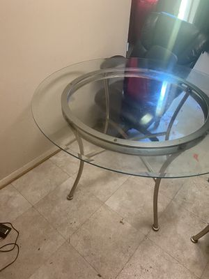 Glass kitchen table for Sale in Severn, MD