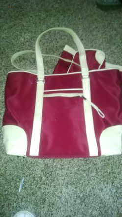 Red and beige handbag, with tote and wallet for Sale in Milton,  FL