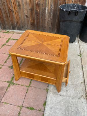 Wood coffee end table drawer for Sale in Azusa, CA
