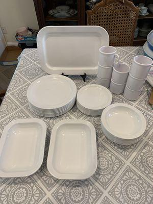 VIntage Set of 8 Texas Ware White Melamine dish Set for Sale in Clovis, CA
