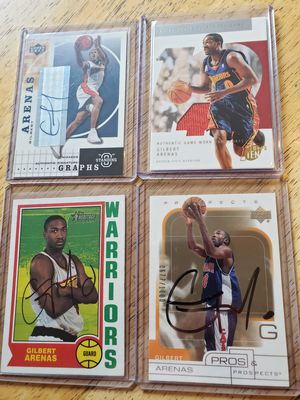 Gilbert Arenas Warriors NBA basketball autograph and memorabilia cards for Sale in Gresham, OR