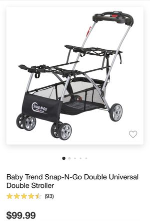 Double stroller universal for Sale in Coachella, CA