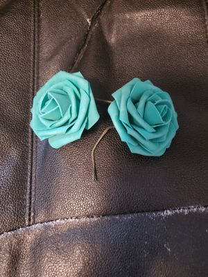 Ling's Moments teal foam flowers for Sale in Kent, WA