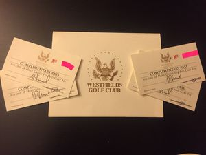 4 Passes for Westfields Golf Course for Sale in Gaithersburg, MD