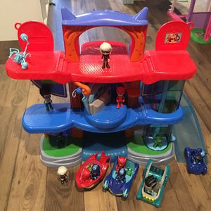 PJ Masks Deluxe Headquarters Playset With Vehicles And Action Figures for Sale in Lexington, SC