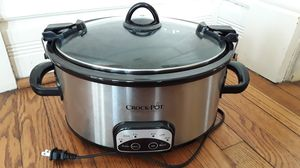 Crock pot 6 quart programmable cook and carry model sccpvl605.s.a for Sale in Merrionette Park, IL