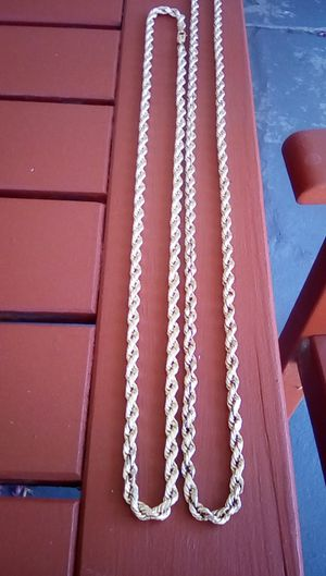 14k real gold rope chains for Sale in Alhambra, CA