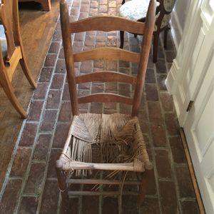 Antique Ladderback Chair for Sale in Alexandria, VA