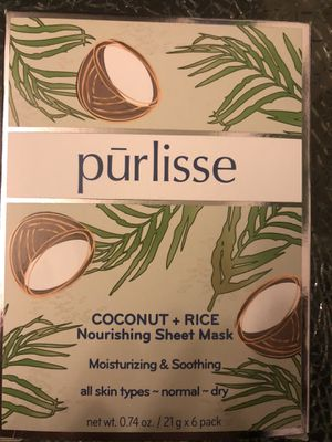 Purlisse Coconut + Rice Nourishing Sheet Mask 6-pack for Sale in Edgewood, WA