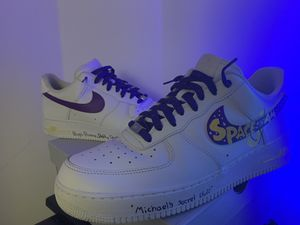 Retro Space Jam Airforce 1 custom size (12) for Sale in Pompano Beach, FL