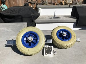 Beach launch wheels for small boat. for Sale in Costa Mesa, CA
