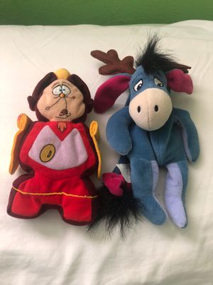 Disney Eeyore and Cogsworth Beauty And the Beast bean bag plush for Sale in San Fernando, CA