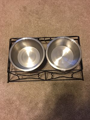 Metal dog bowl holder for Sale in Yorkville, IL
