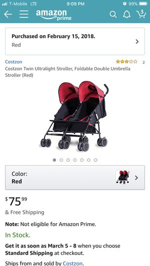 Double umbrella stroller for Sale in Richmond, KY