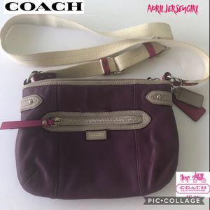 Coach rare purple leather crossbody / shoulder bag for Sale in Spring Hill, FL