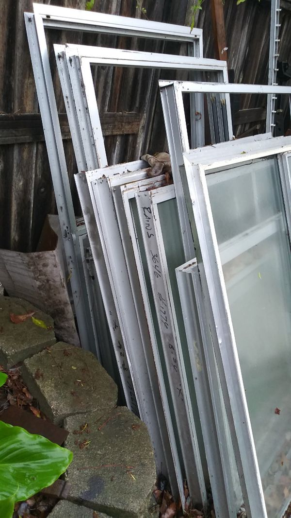 Aluminum double panel windows