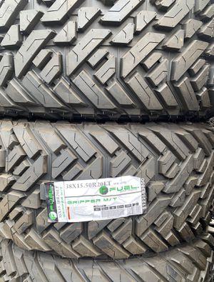 """20"""" FUEL GRIPPER M/T TIRES New Size 38 x15.50R20 ....$199 EA for Sale in La Habra Heights, CA"""