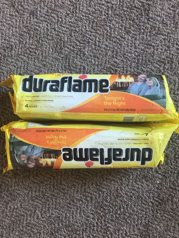 Two duro flame logs