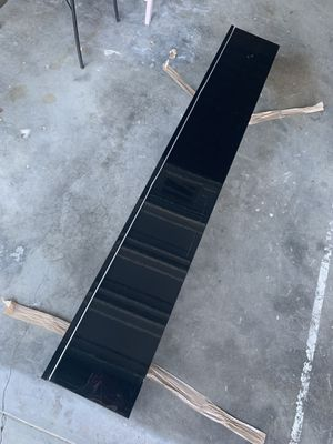 Glossy black wall shelf with door for Sale in San Jose, CA