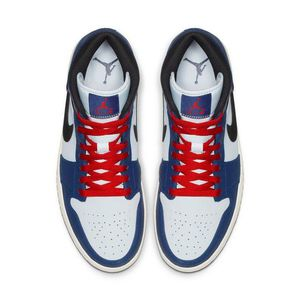 AIR JORDAN RETRO 1 PATRIOTIC VIBES MID MENS LIFESTYLE SHOE (WHITE/DEEP ROYAL BLUE/BLACK) for Sale in New York, NY