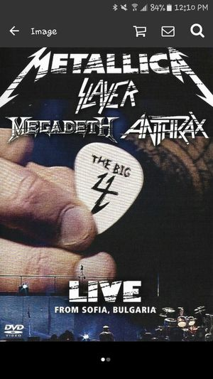 Metallica Big 4 Live Dvd for Sale in Port Norris, NJ
